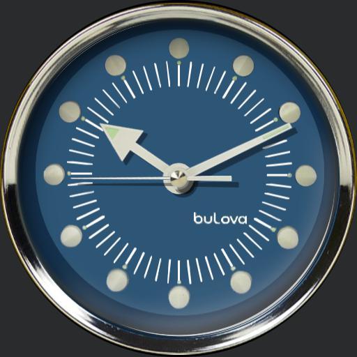 Bulova Retro Wall Clock