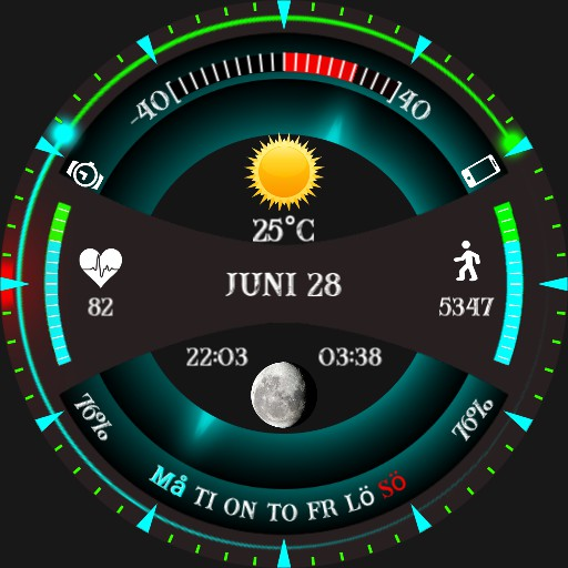 Swedish futurus watch face