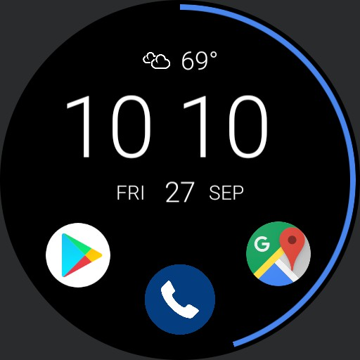 Time and Temp. Moto G Style  Face