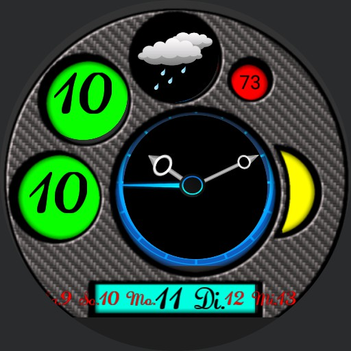 Nice Carbon Watch Face