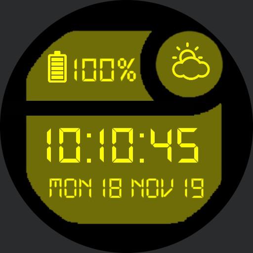 Classic Digital Watch Yellow