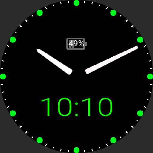 my clock green