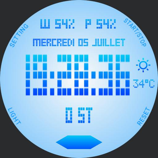 SPORT DIGITAL WATCH FACE