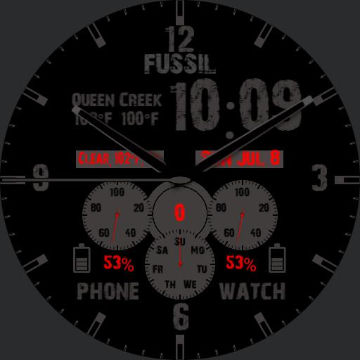 fussil watch red