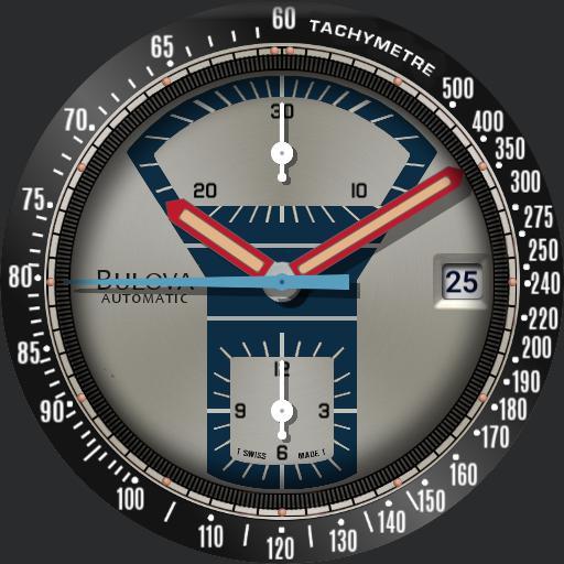 Bulova Bullhead c.1973 V2 Parking Meter Watch