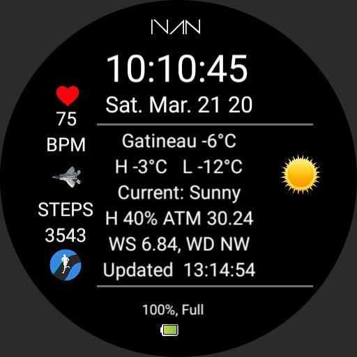 IVAN - Weather Info Dial V 1.0