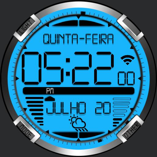 Digital Titanium Watch Face RLW