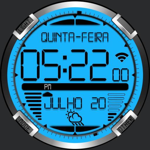 Digital Titanium Watch Face RLW