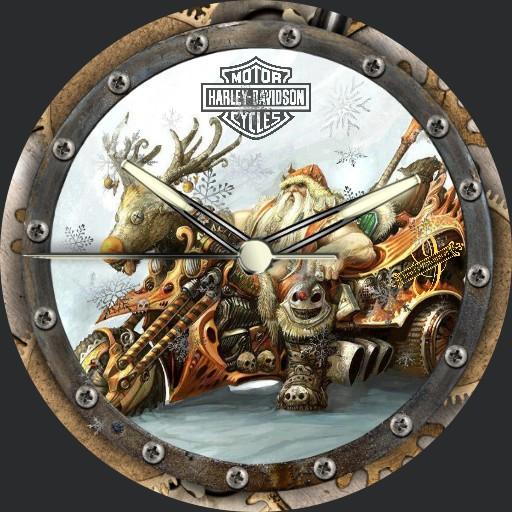 Harley Davidson Steampunk Christmas 3fach Dim nach Tageszeit