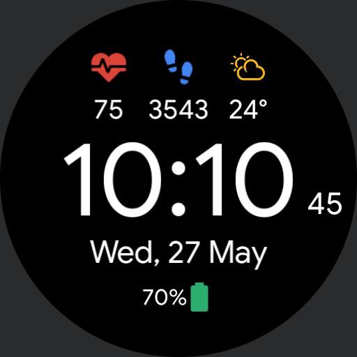Pixel Minimal Watchface Copy Rev. 2