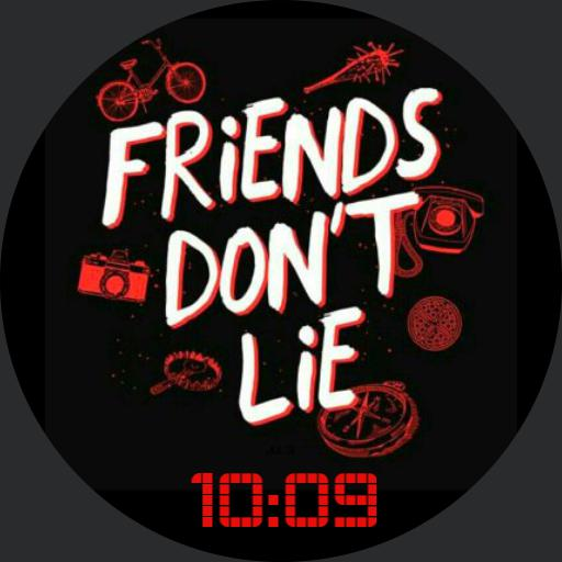 Stranger Things - Friends Dont Lie red