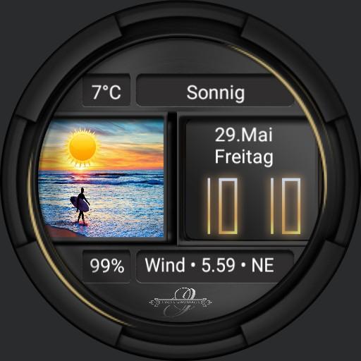 Surfer Watch Wettertags Deutsch