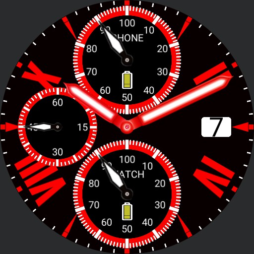 Roman Chronograph Red V2