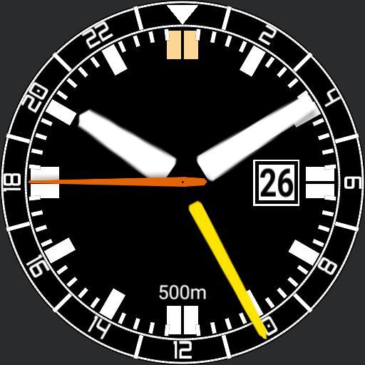Gregs Divers Tritium GMT watch