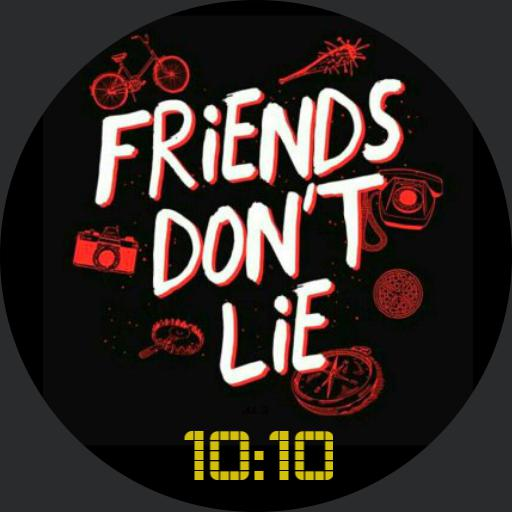 Stranger Things - Friends Dont Lie yellow