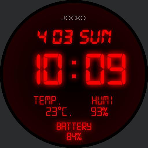 retro LED  watch