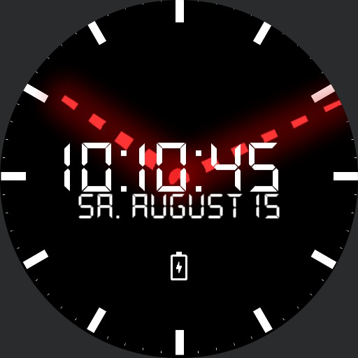 Simple WearOS Analog Digital