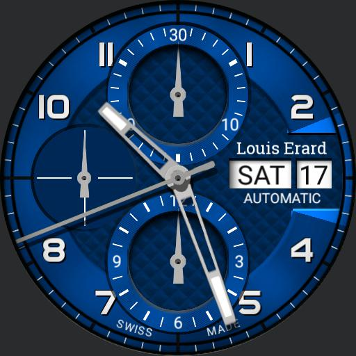 Louis Erard Heritage Chrono Dim Options Blue