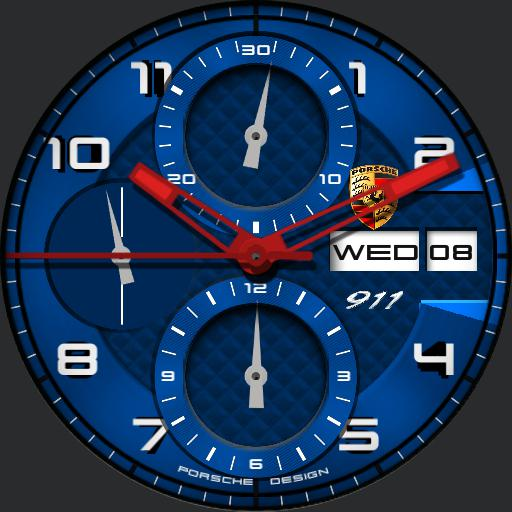 Porsche Chrono Dim Options Blue