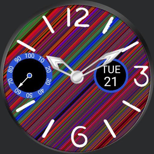 JSM Colorful Stripes Weather Subdial 1.0