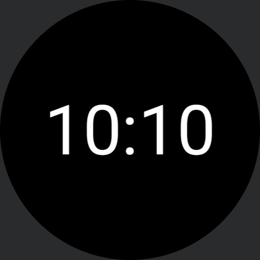 simple watch face round #1