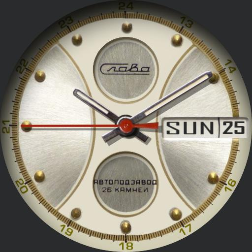 Slava Automatic NOS Soviet Watch C.1970s