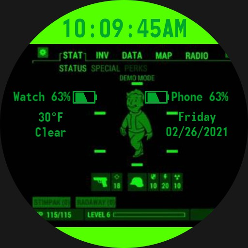 Fallout 4 Pipboy Watch Face Round Copy