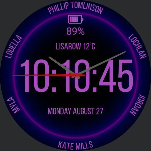 Kates watch face purple