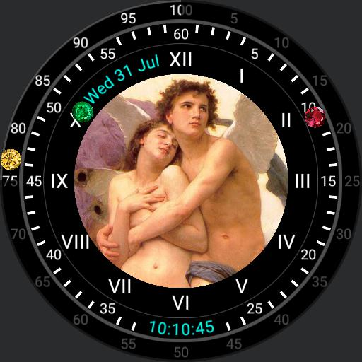 Art Watch Cupid and Psyche