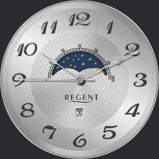 Regent P-160 Moon Phase Pocket Watch