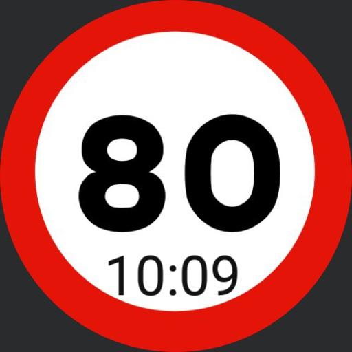 80 jaar stopbord