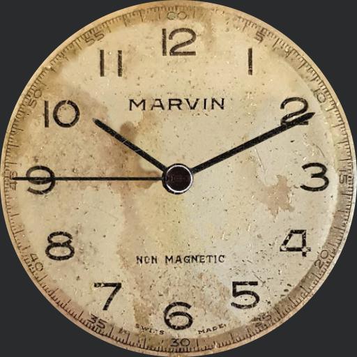 Gents 1940s Marvin hand winding wrist watch