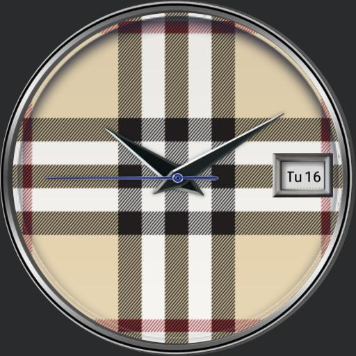 Tartan Bberry colour customizable watch