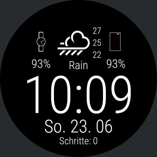 Clean Minimalist S10 watchface by Soran