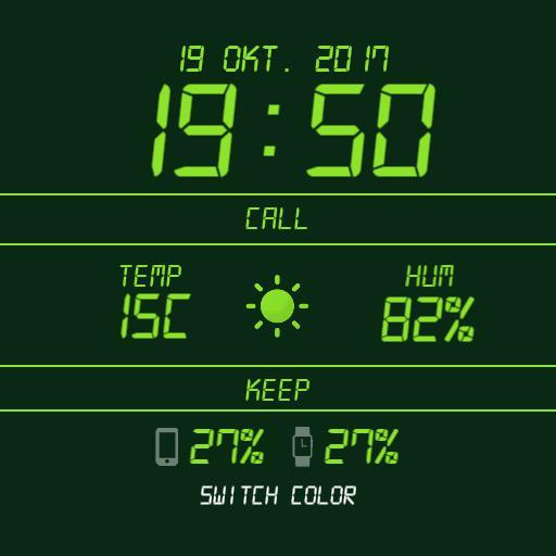 LCD Digital Watchface Light