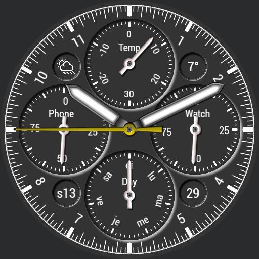 benolf chronographe black /blue /grey Copy
