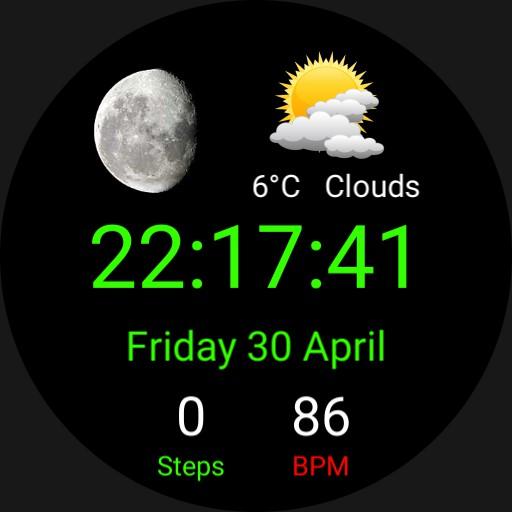 moon, weather, minimal
