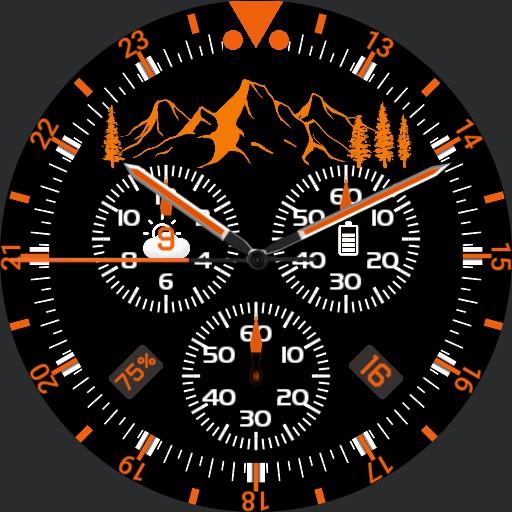 Chrono Orange Mountains BIG
