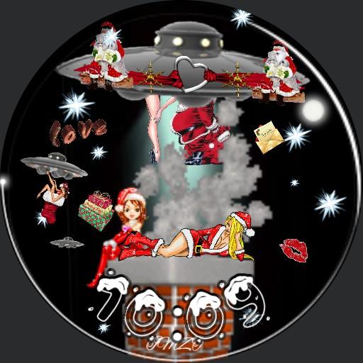 Space Girl Christmas  Animation Dim.