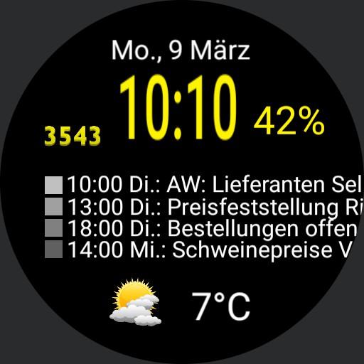 Calendar tic watch