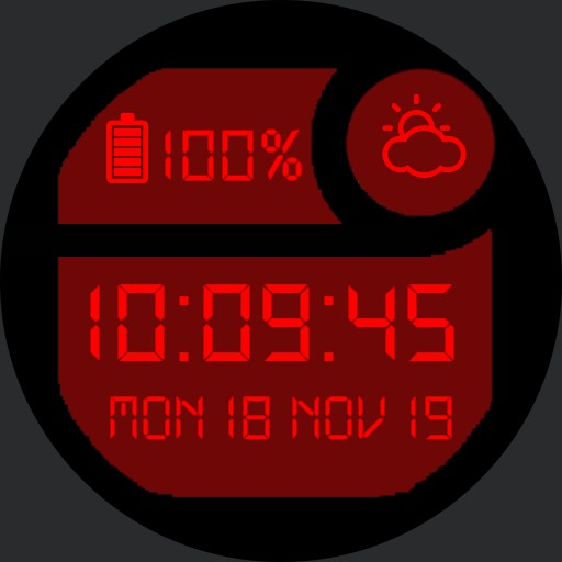 Classic Digital Watch Red