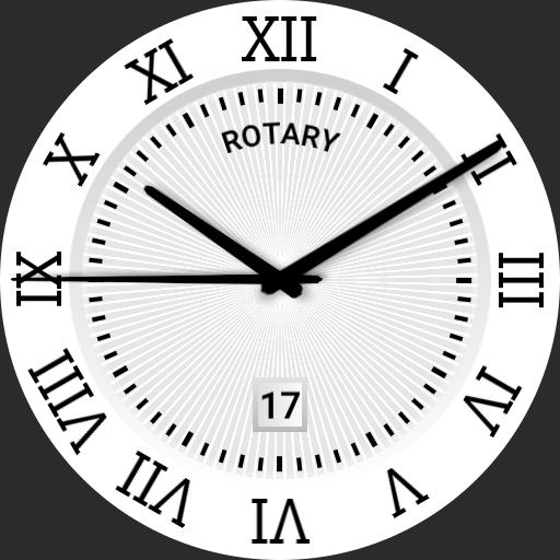 Rotary classic watch face