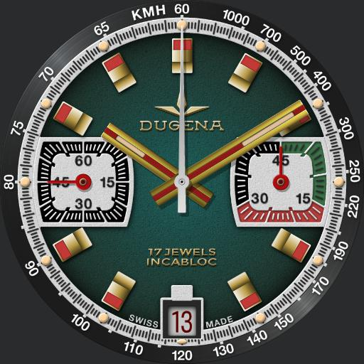 Dugena Chronograph C.1970s 2 in 1