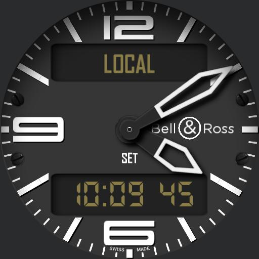 BR03 Type Aviation Limited Edition LCD hands home time and settings button