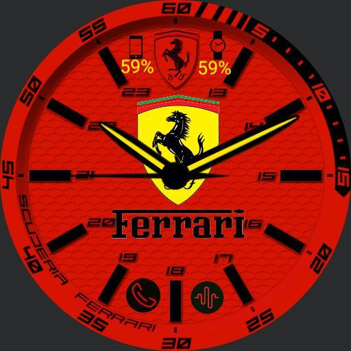 Ferrari red watch