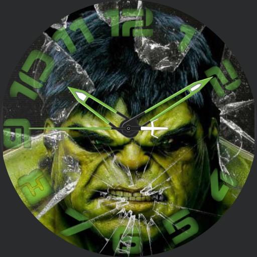 Hulk Smashed Watch Face