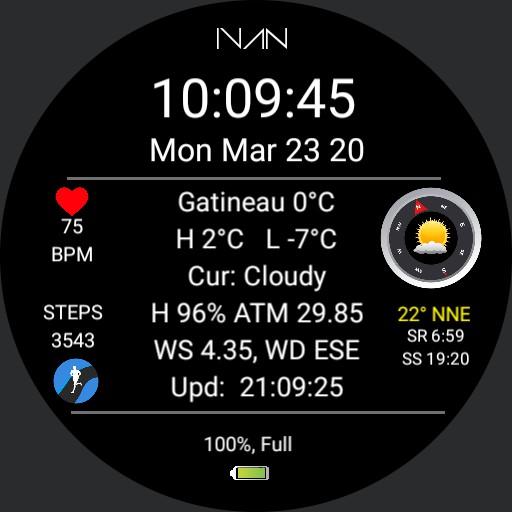 IVAN - Weather Info Dial V 2.1