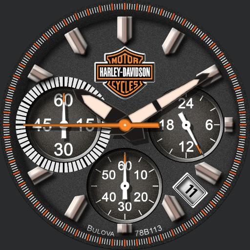 Tribute Bulova Harley Davidson Chronograph Custom dim