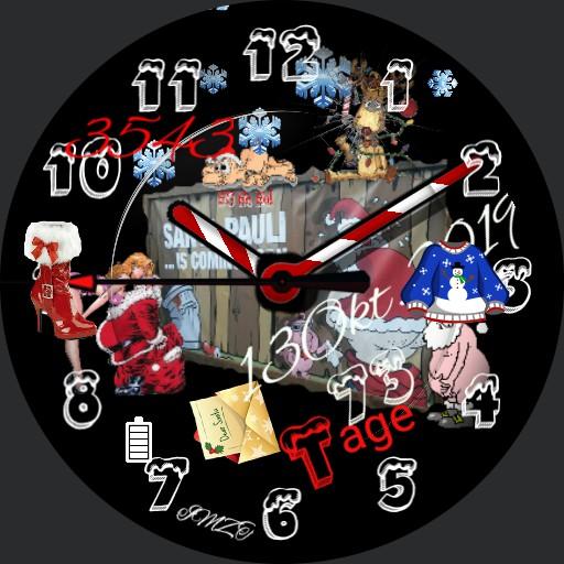 Christmas Counter.Santa Pauli Christmas Counter Watchmaker Watch Faces