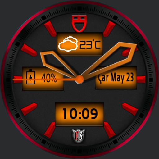 Fs shield watch face